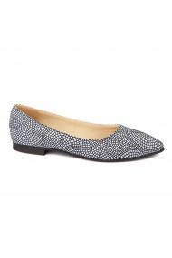 Pantofi cu toc dama din piele naturala 4470