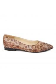 Pantofi cu toc dama din piele naturala 4475