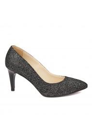 Pantofi cu toc dama din piele naturala 4476