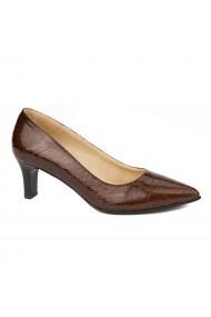 Pantofi cu toc dama din piele naturala 4478