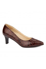 Pantofi cu toc dama din piele naturala 4479