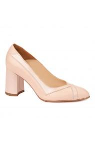 Pantofi cu toc dama eleganti din piele naturala 4241