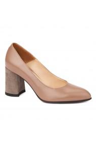 Pantofi cu toc dama eleganti din piele naturala 4242