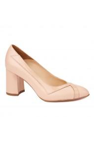 Pantofi cu toc dama eleganti din piele naturala 4245