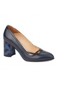 Pantofi cu toc dama eleganti din piele naturala 4250