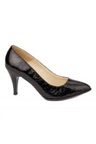Pantofi cu toc dama din piele naturala 4261