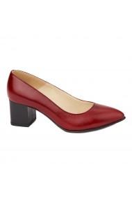 Pantofi cu toc dama din piele naturala 4262