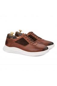 Pantofi barbati casual din piele naturala maro 1019