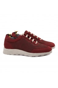 Pantofi Casual din Piele Naturala Rosie 0123