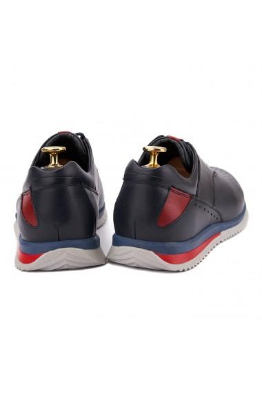 Pantofi Sport din Piele Naturala Albastra 0122