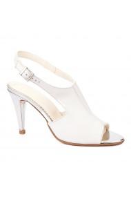 Sandale dama din piele naturala alba 5246