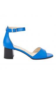 Sandale dama din piele naturala albastra 5249