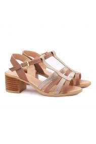 Sandale dama din piele naturala bej 5156