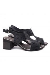 Sandale dama din piele naturala bleumarin 5159