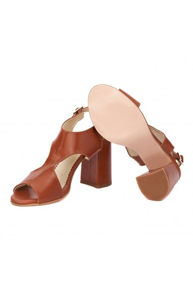 Sandale dama din piele naturala maro 5239