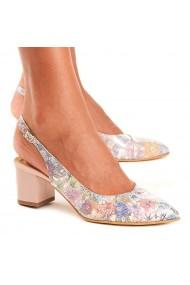 Sandale dama din piele naturala model floral 5011