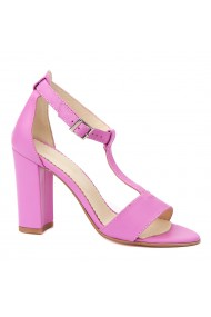 Sandale dama din piele naturala mov 5241