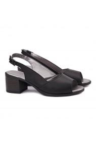 Sandale dama din piele naturala neagra 5153
