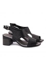 Sandale dama din piele naturala neagra 5160