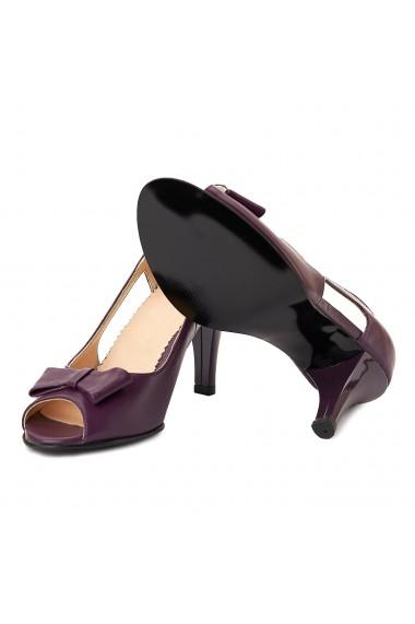 Sandale dama elegante din piele mov 5000