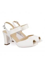 Sandale dama elegante din piele naturala alba 4168