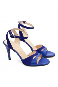 Sandale dama elegante din piele naturala albastra 5195