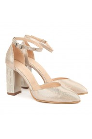 Sandale dama elegante din piele naturala bej 5012