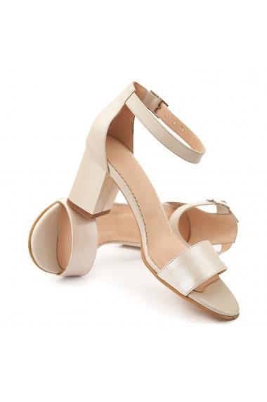 Sandale dama elegante din piele naturala bej 5088