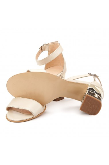Sandale dama elegante din piele naturala bej 5091