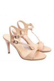 Sandale dama elegante din piele naturala bej 5187