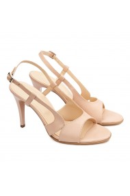 Sandale dama elegante din piele naturala bej 5189