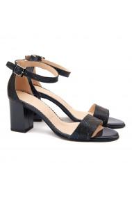 Sandale dama elegante din piele naturala bleu marin 5072