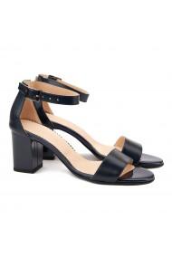 Sandale dama elegante din piele naturala bleumarin 5078