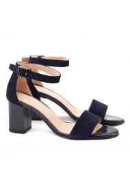 Sandale dama elegante din piele naturala bleumarin 5079