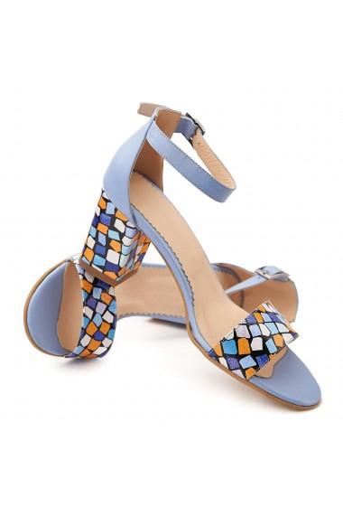 Sandale dama elegante din piele naturala blue ciel 5074