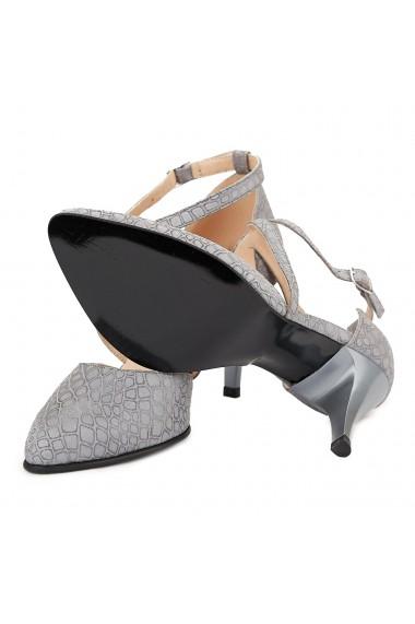 Sandale dama elegante din piele naturala gri 5014