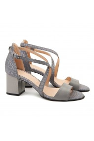 Sandale dama elegante din piele naturala gri 5089