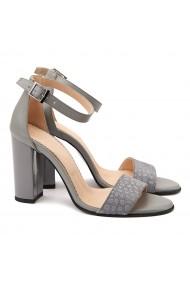 Sandale dama elegante din piele naturala gri 5094