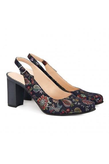 Sandale dama elegante din piele naturala neagra 5042