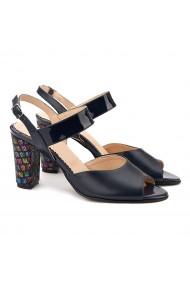 Sandale dama elegante din piele naturala neagra 5070