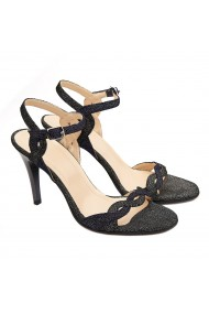 Sandale dama elegante din piele naturala neagra 5182