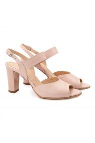 Sandale dama elegante din piele naturala nude 5075