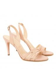 Sandale dama elegante din piele naturala nude 5213