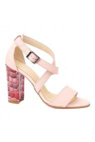 Sandale dama elegante din piele naturala roz 5237