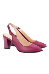 Sandale dama elegante din piele naturala siclam 5041