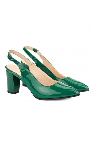Sandale dama elegante din piele naturala verde 5019