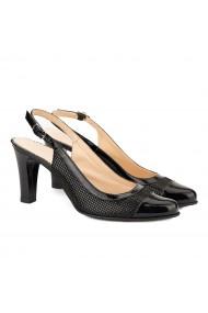 Sandale dama elegante din piele neagra 5039