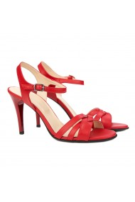 Sandale dama elegante din piele rosie 5163