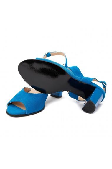 Sandale elegante din piele naturala albastra 5080