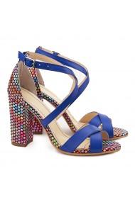 Sandale elegante din piele naturala albastra 5121